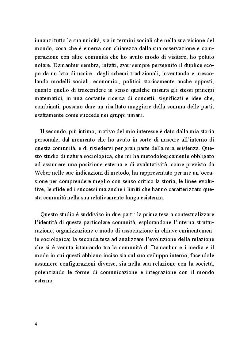 Anteprima della tesi: Comunità e Media: il caso di Damanhur, Pagina 3