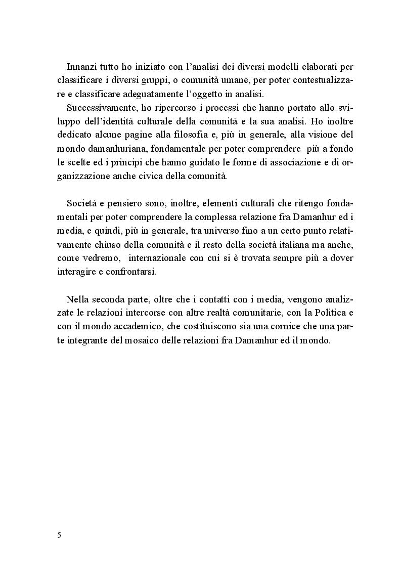 Anteprima della tesi: Comunità e Media: il caso di Damanhur, Pagina 4
