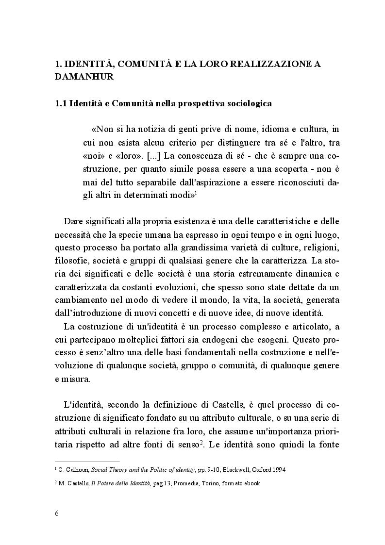 Anteprima della tesi: Comunità e Media: il caso di Damanhur, Pagina 5