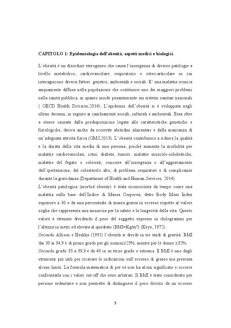 Anteprima della tesi: Weight bias e stigma nell'obesità: aspetti psicologici e ambiti d'intervento, Pagina 3