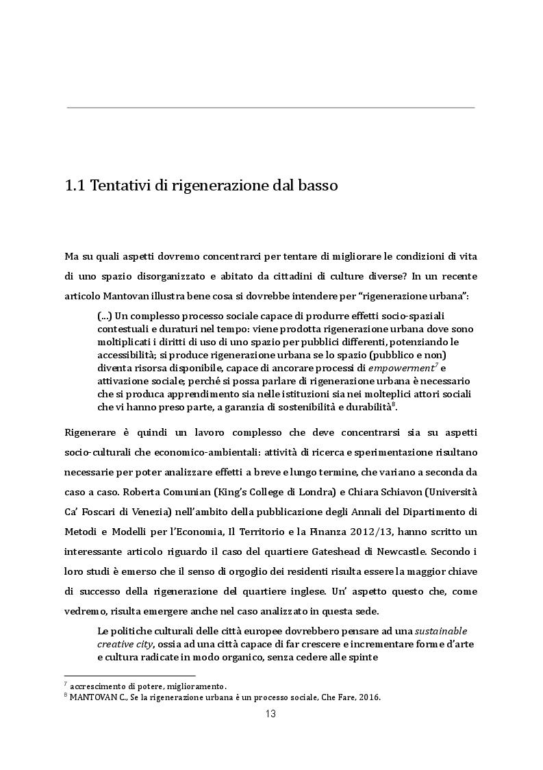 Estratto dalla tesi: Rigenerazione urbana ed editoria: la libreria Limerick nel quartiere Arcella di Padova