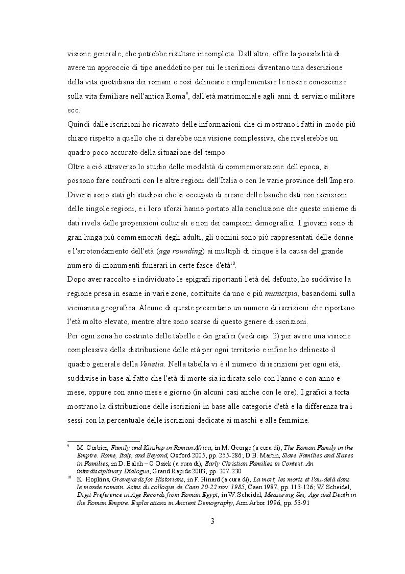 """Anteprima della tesi: """"Life course"""" nelle iscrizioni latine della Venetia, Pagina 4"""