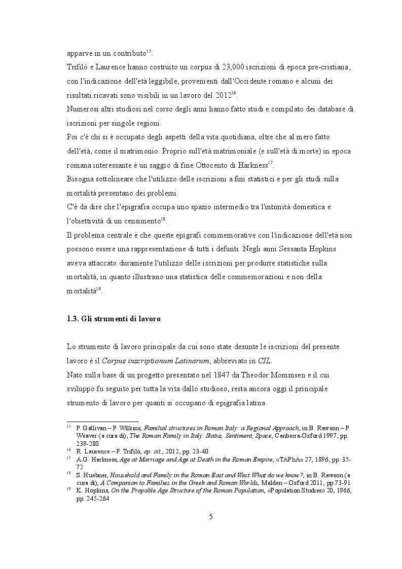 """Anteprima della tesi: """"Life course"""" nelle iscrizioni latine della Venetia, Pagina 6"""