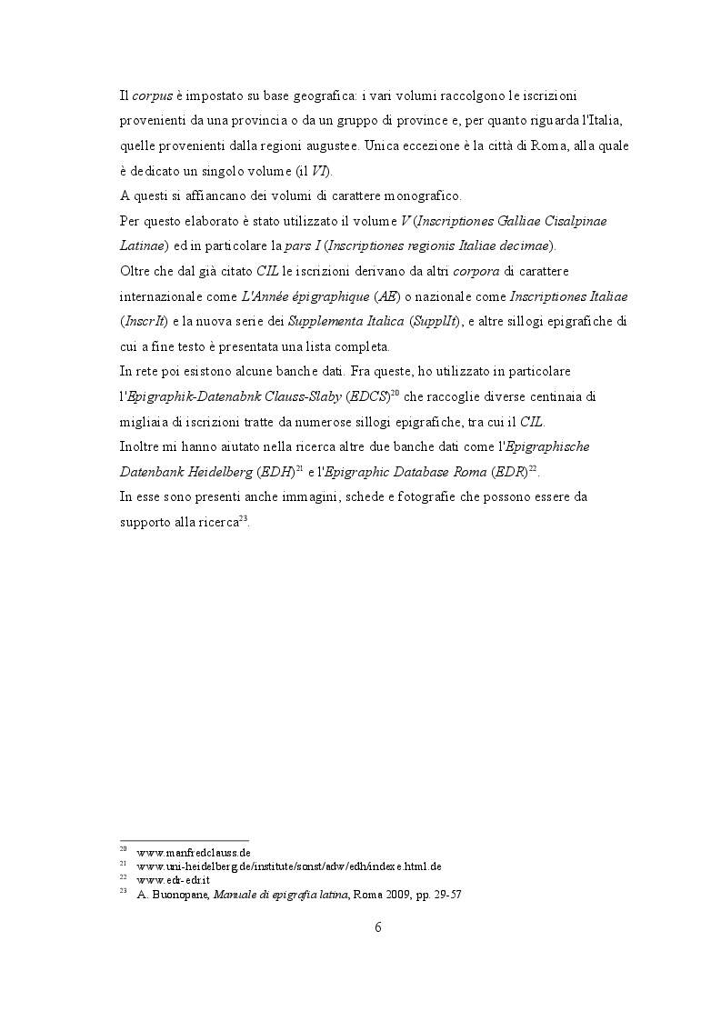 """Anteprima della tesi: """"Life course"""" nelle iscrizioni latine della Venetia, Pagina 7"""