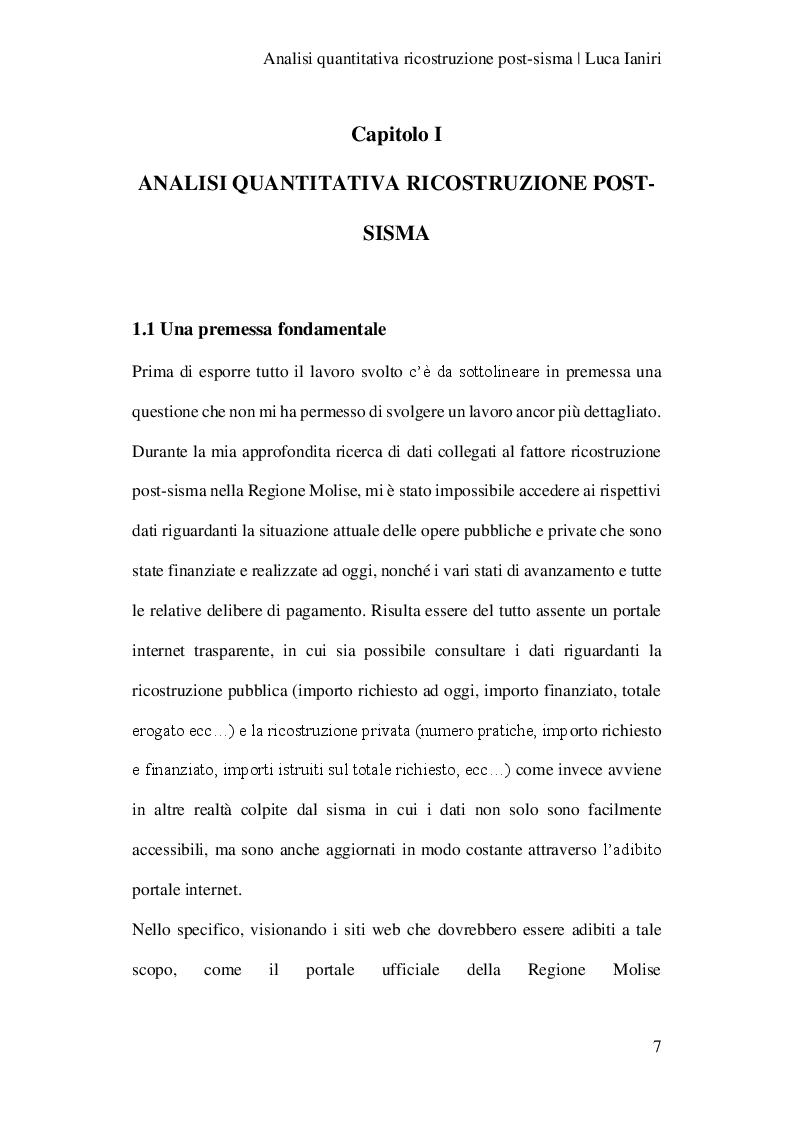 Anteprima della tesi: Analisi quantitativa della ricostruzione post-sisma , Pagina 4