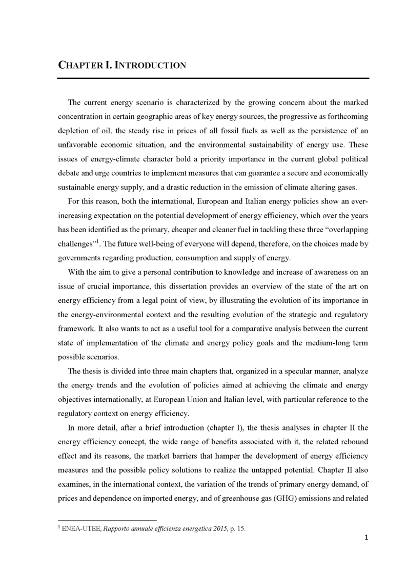 Anteprima della tesi: The role of energy efficiency for a secure, competitive and sustainable energy, Pagina 3