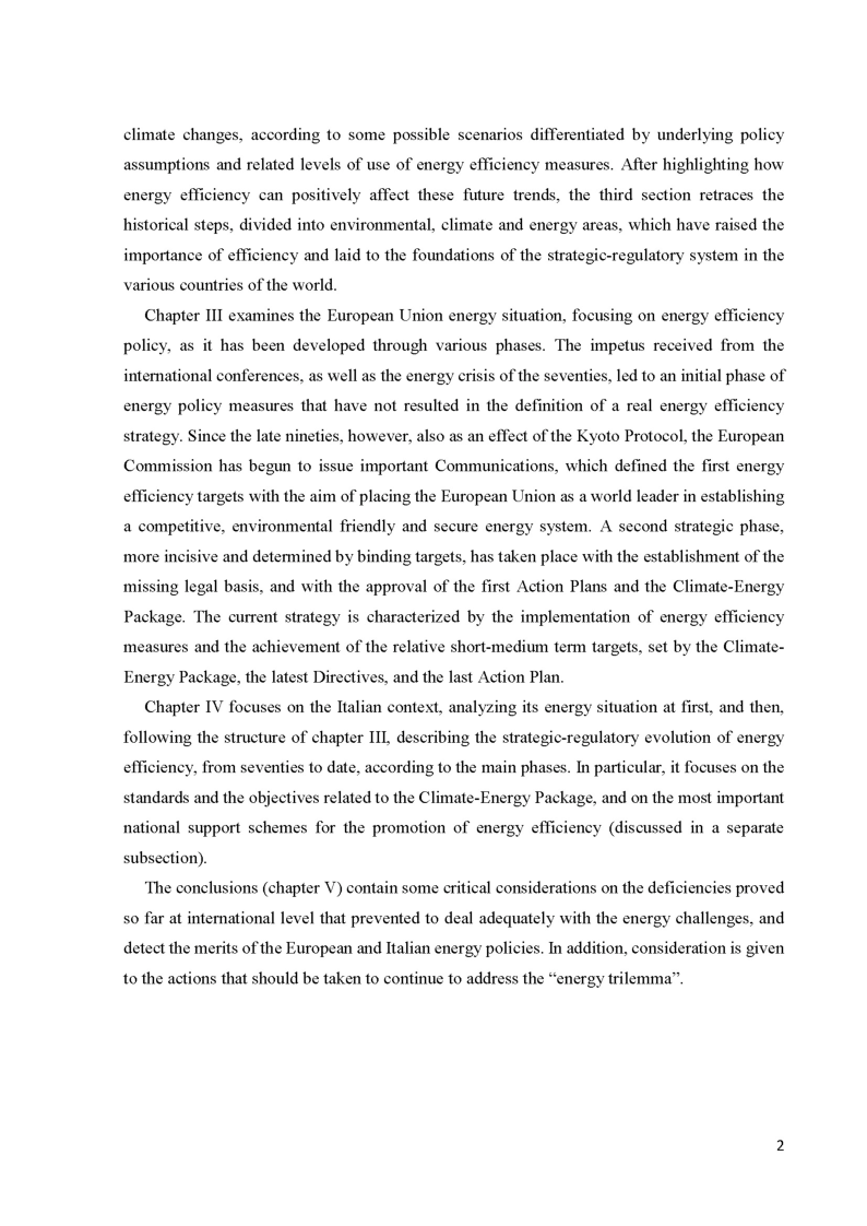 Anteprima della tesi: The role of energy efficiency for a secure, competitive and sustainable energy, Pagina 4