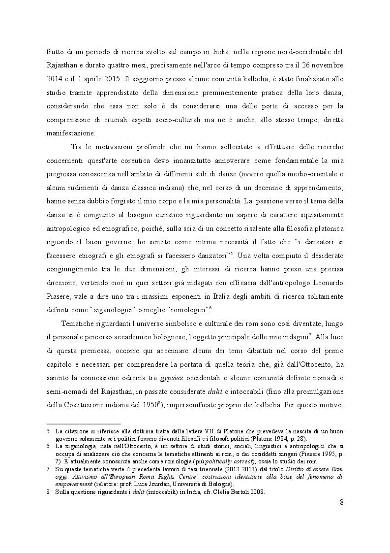 Anteprima della tesi: Da incantatori di serpenti a danzatori. Trasformazioni coreutiche tra i kalbelia del Rajasthan., Pagina 3