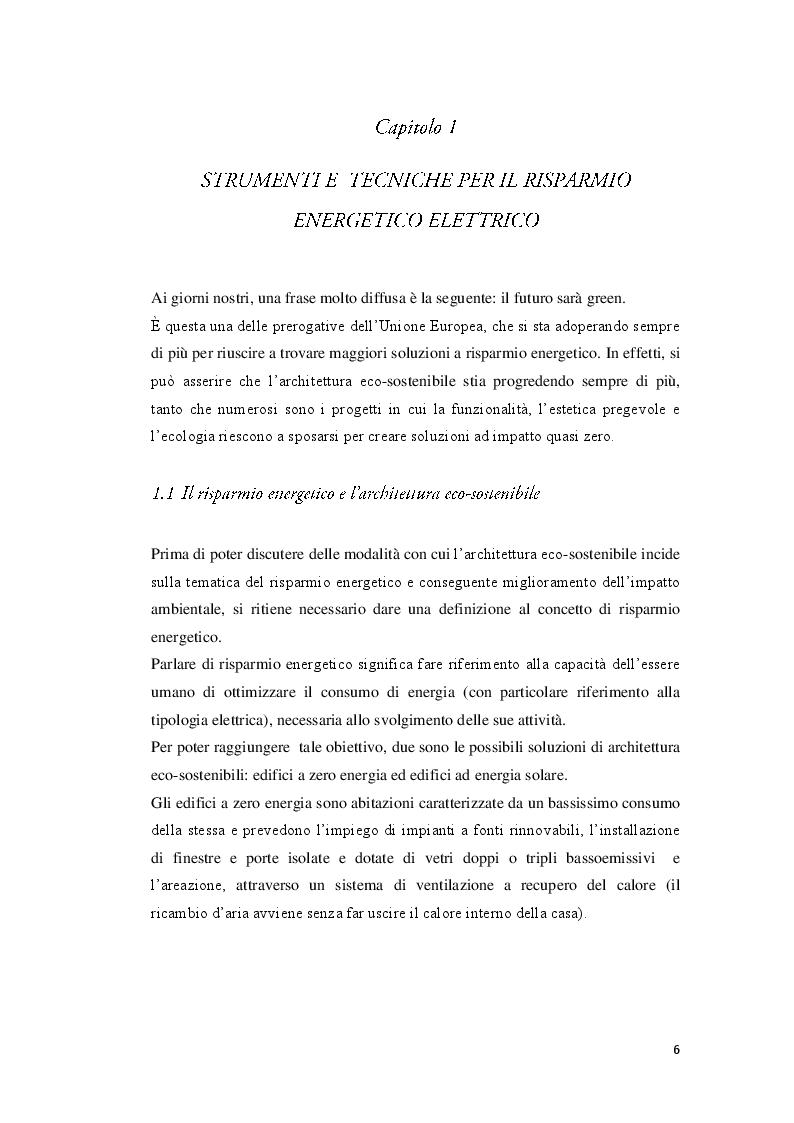Anteprima della tesi: Strumenti e tecniche per il risparmio energetico nell'edilizia civile, Pagina 4