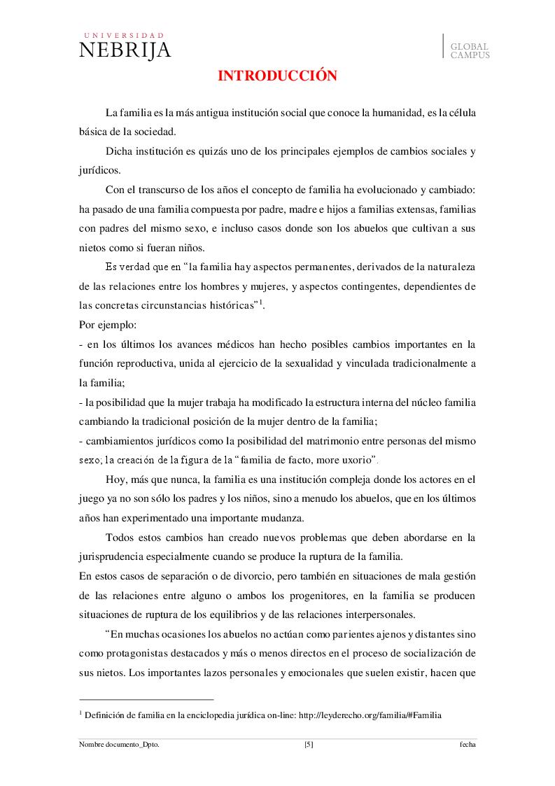 Anteprima della tesi: El derecho de visita de los abuelos con sus nietos, Pagina 2