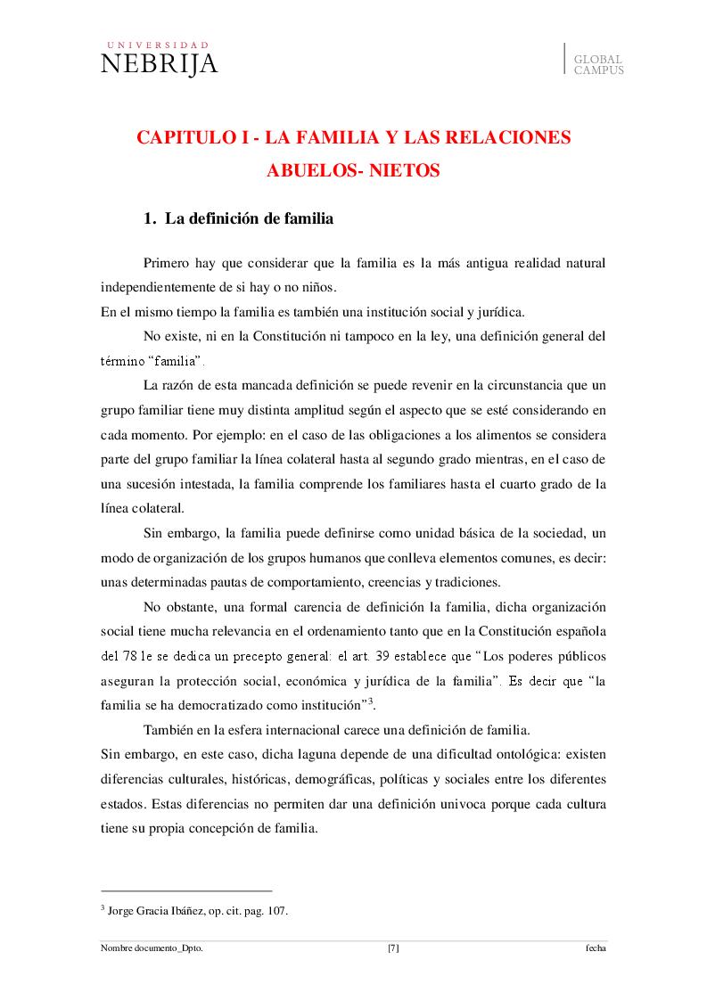Anteprima della tesi: El derecho de visita de los abuelos con sus nietos, Pagina 4