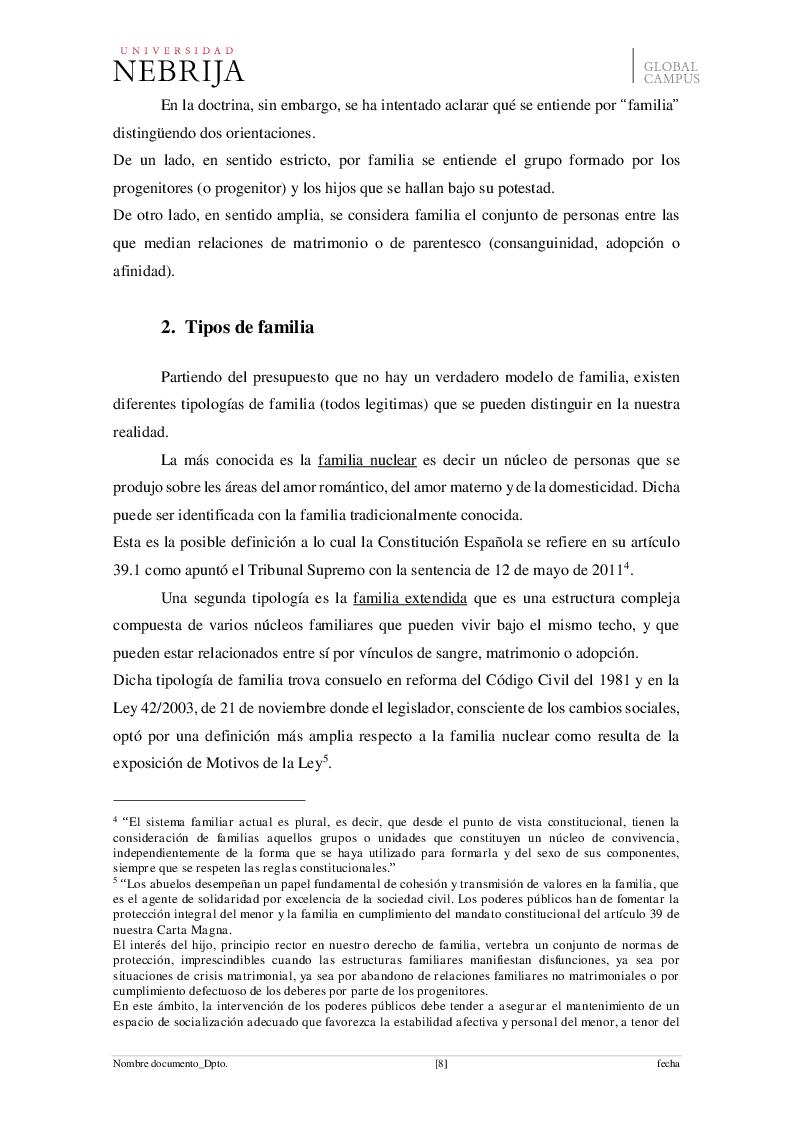 Anteprima della tesi: El derecho de visita de los abuelos con sus nietos, Pagina 5