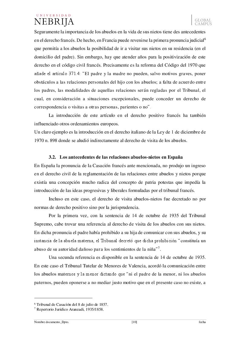 Anteprima della tesi: El derecho de visita de los abuelos con sus nietos, Pagina 7