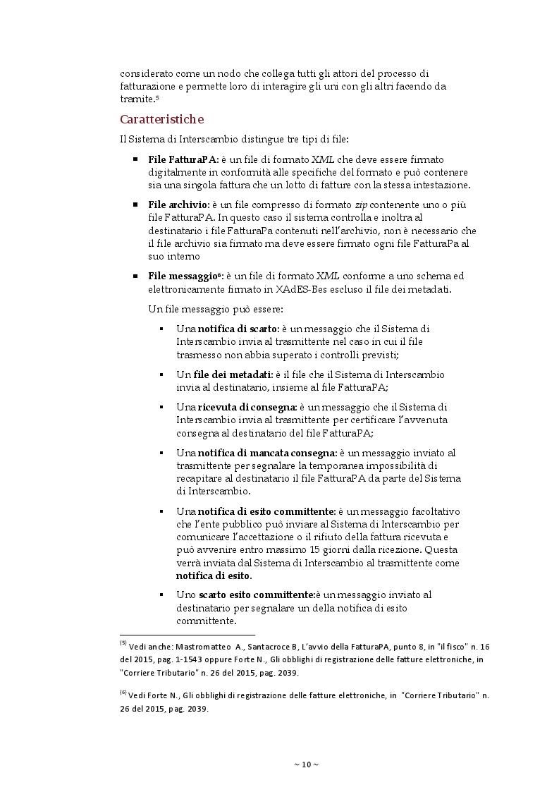 Estratto dalla tesi: La Fatturazione elettronica verso la Pubblica Amministrazione