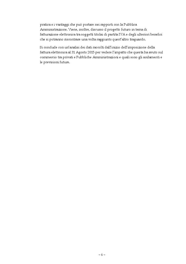 Anteprima della tesi: La Fatturazione elettronica verso la Pubblica Amministrazione, Pagina 3