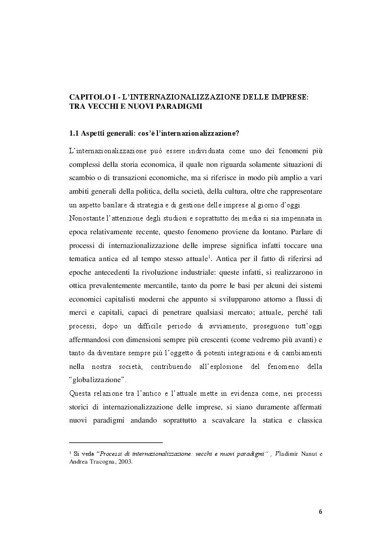 Anteprima della tesi: Modelli e strategie di internazionalizzazione: il caso Angelini Acraf S.p.A, Pagina 4