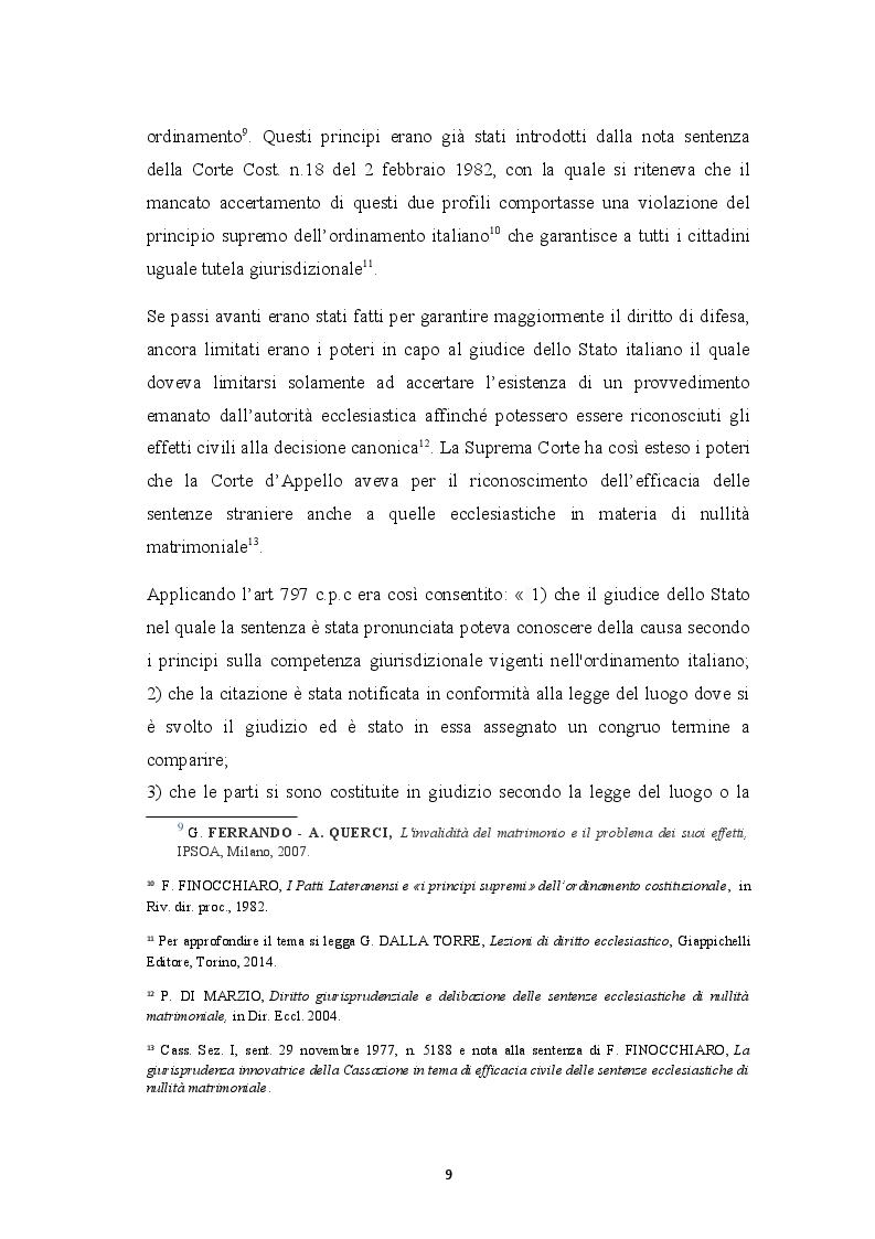 Anteprima della tesi: Sentenza ecclesiastica di nullità matrimoniale, sentenze civili di separazione e divorzio, Pagina 5