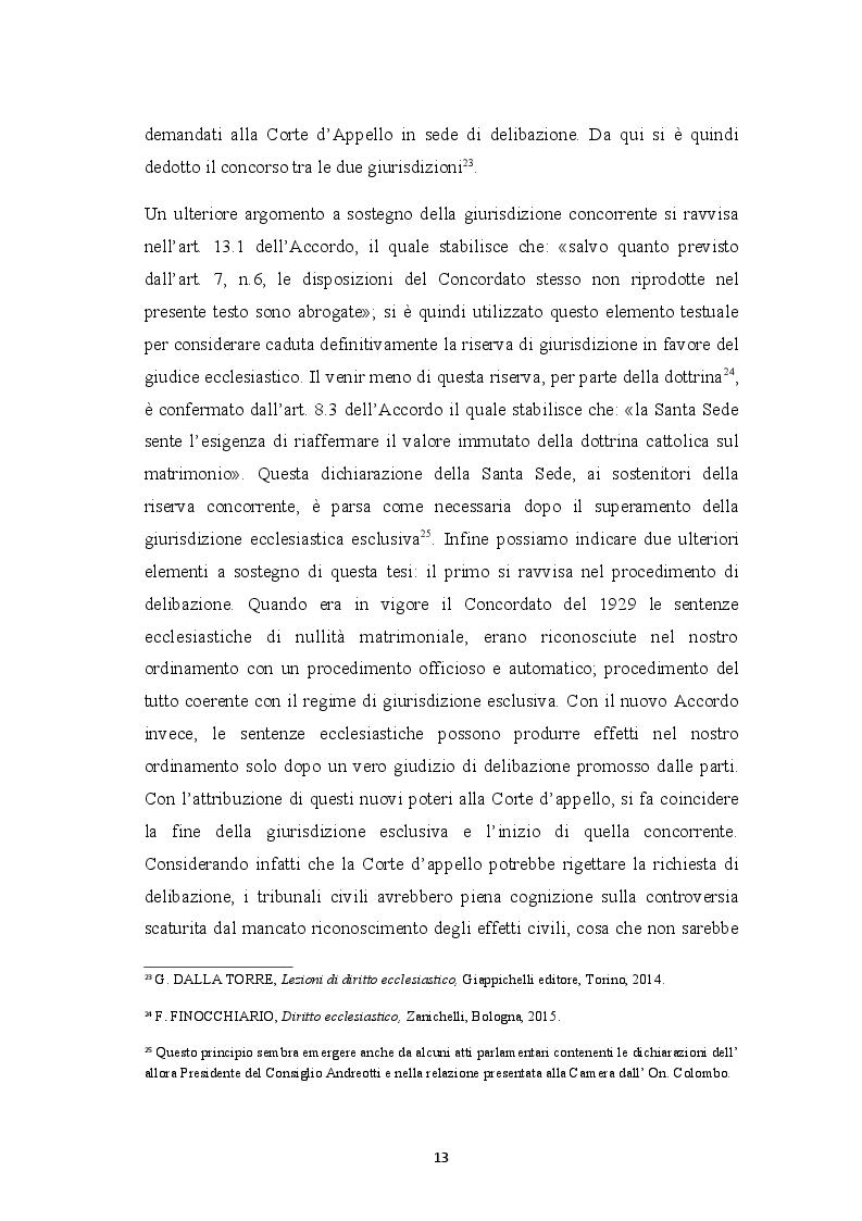 Anteprima della tesi: Sentenza ecclesiastica di nullità matrimoniale, sentenze civili di separazione e divorzio, Pagina 9
