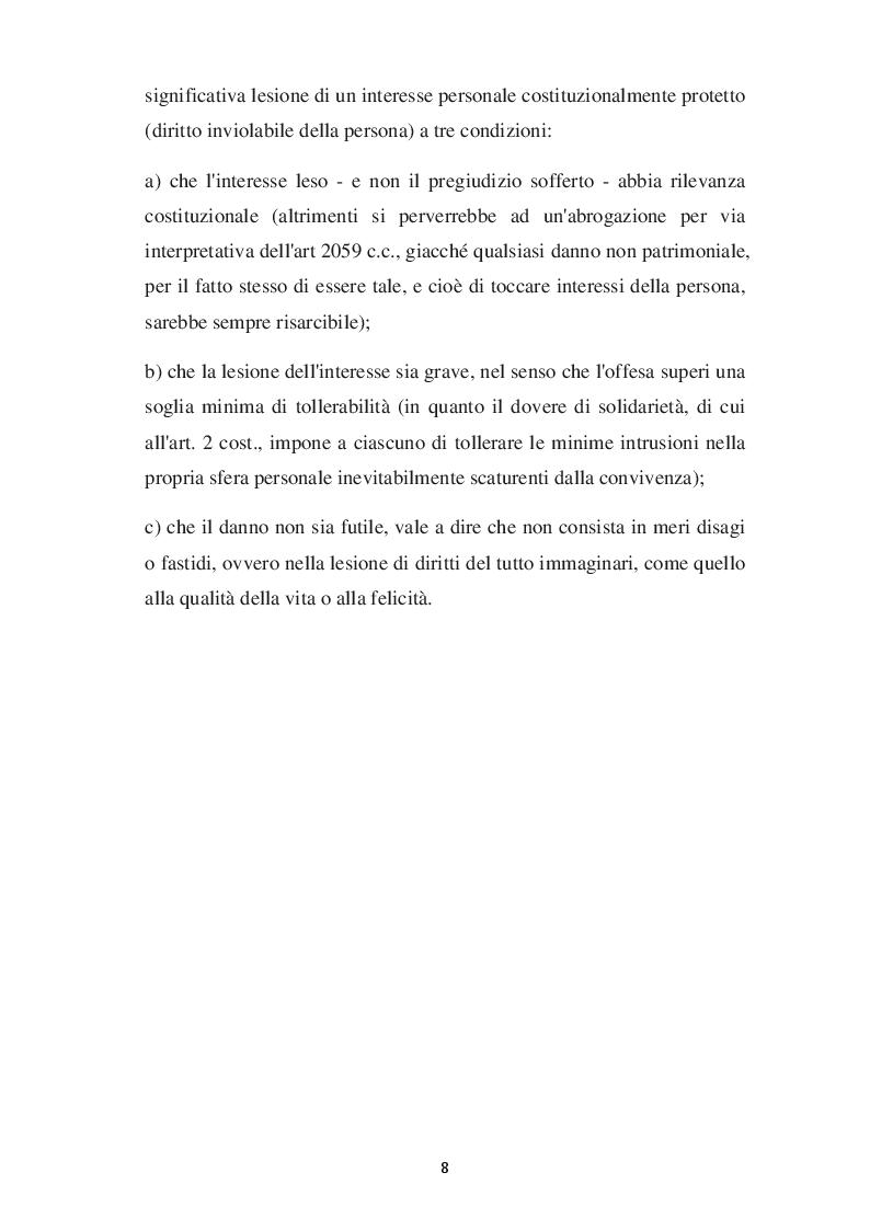 Anteprima della tesi: L'evoluzione del concetto di DANNO DA VACANZA ROVINATA secondo la norma e la giurisprudenza, Pagina 4