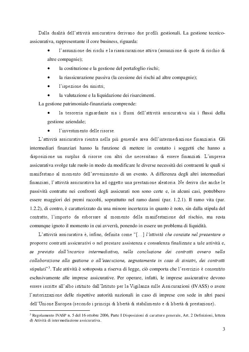 Anteprima della tesi: Le riserve tecniche nelle imprese assicurative, Pagina 4