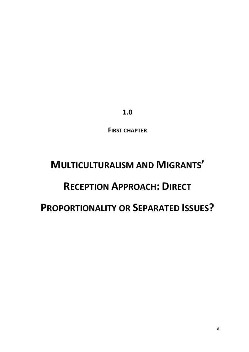 Anteprima della tesi: The Culture of Multicultural Integration: Tertiary Organisations' Role in Immigrants' Reception in Sicily, Pagina 6