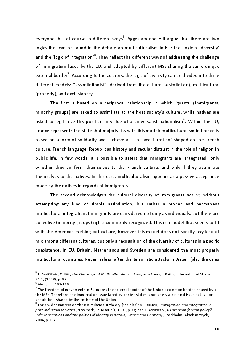 Anteprima della tesi: The Culture of Multicultural Integration: Tertiary Organisations' Role in Immigrants' Reception in Sicily, Pagina 8