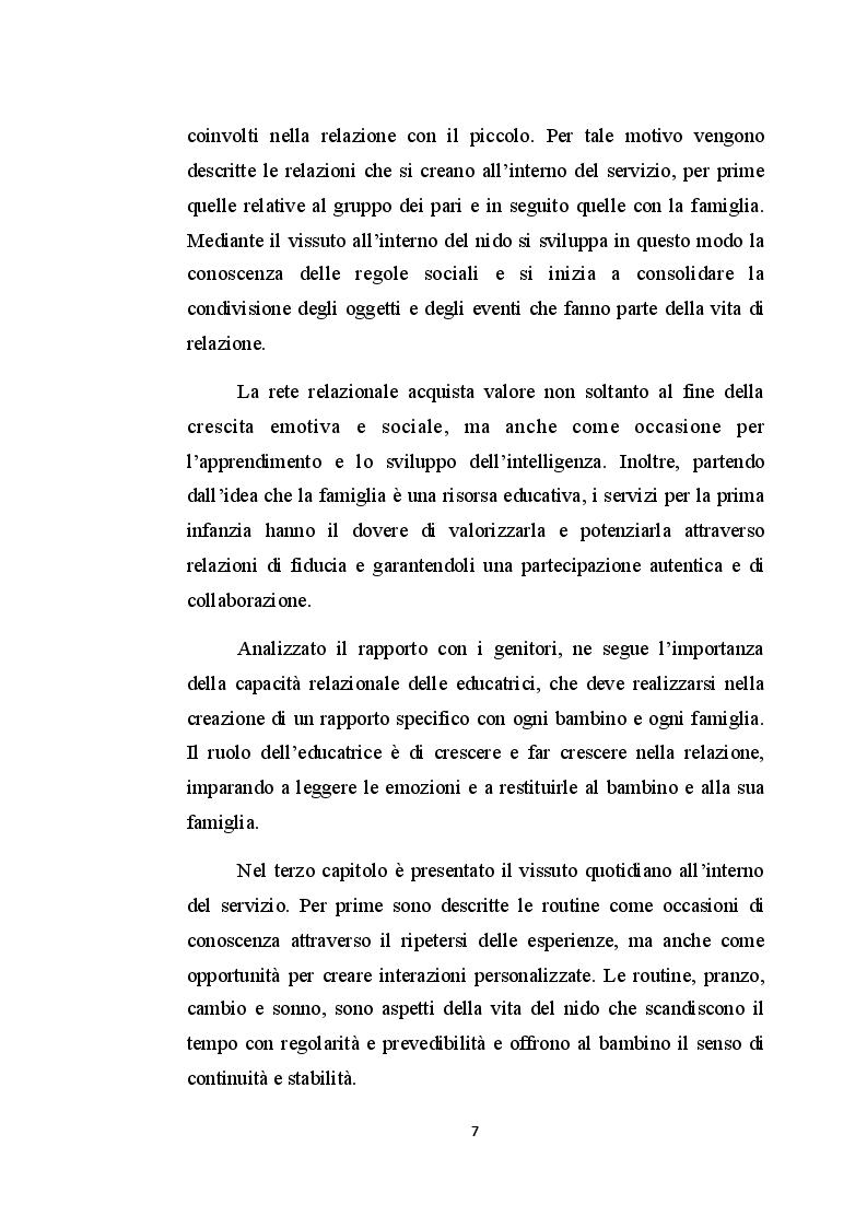 Anteprima della tesi: Il nido d'infanzia: un luogo educativo tra apprendimento e relazione, Pagina 4