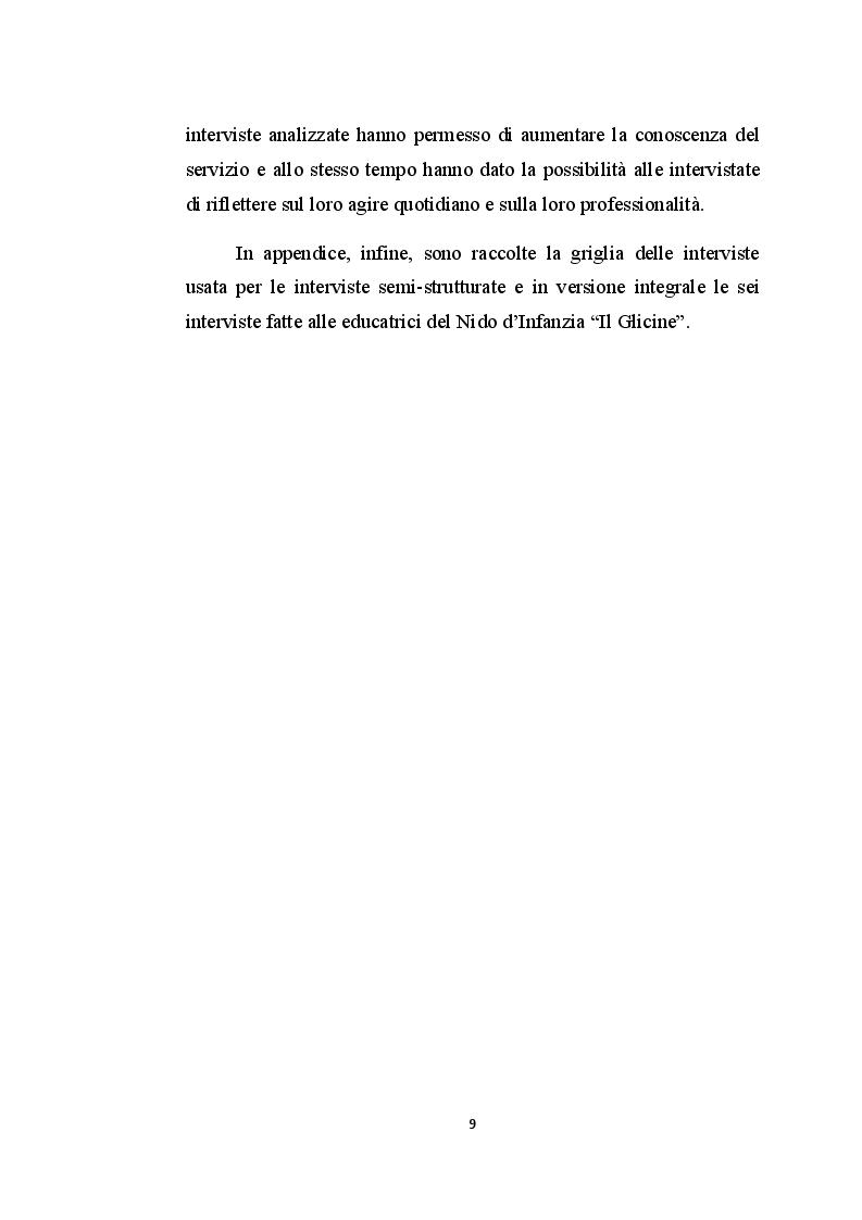 Anteprima della tesi: Il nido d'infanzia: un luogo educativo tra apprendimento e relazione, Pagina 6