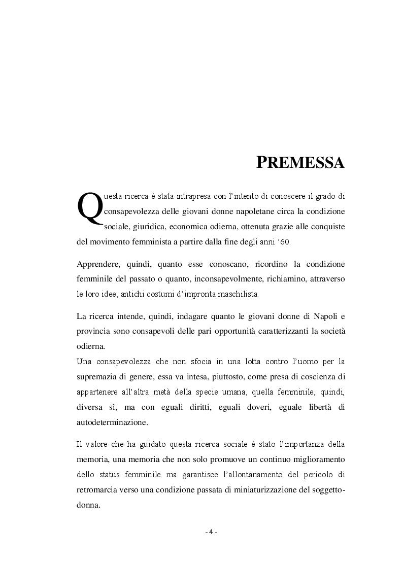 Anteprima della tesi: Giovani donne partenopee fra tradizione ed innovazione, Pagina 2