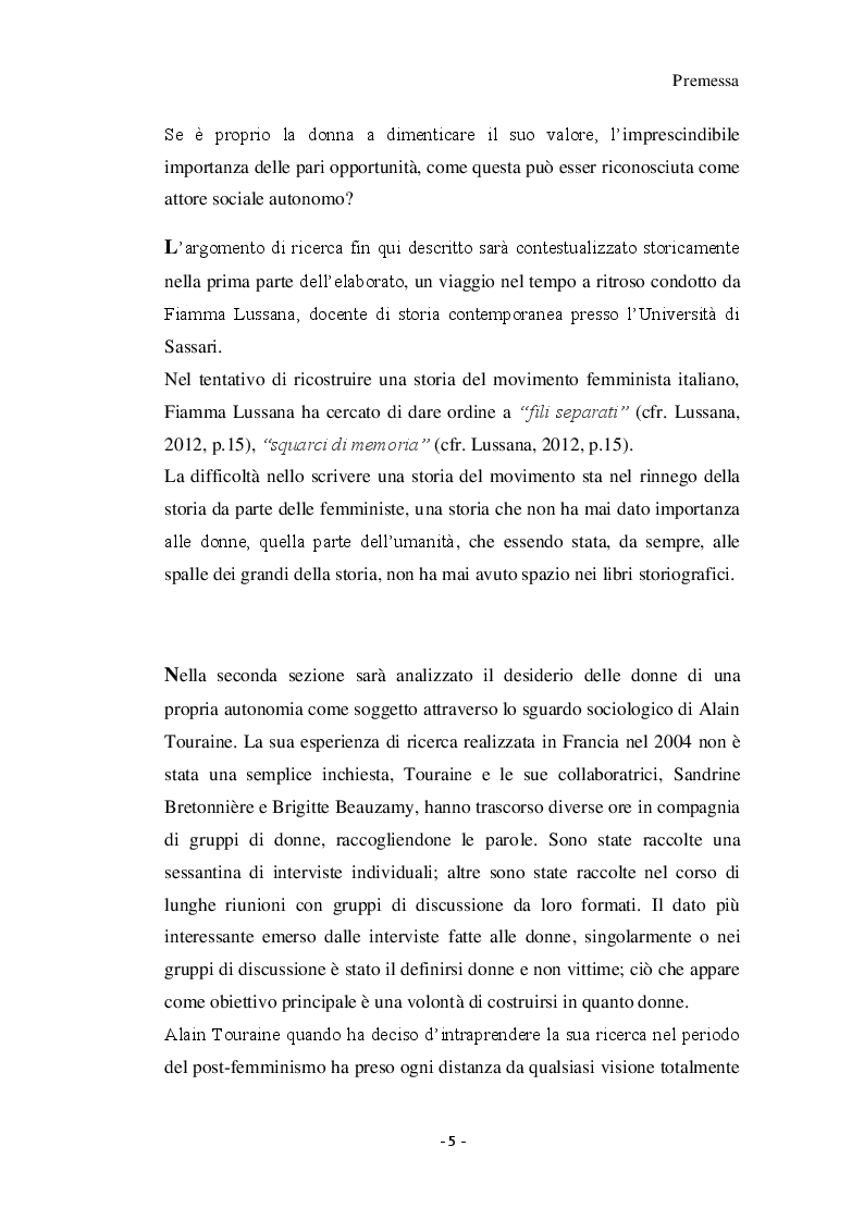 Anteprima della tesi: Giovani donne partenopee fra tradizione ed innovazione, Pagina 3
