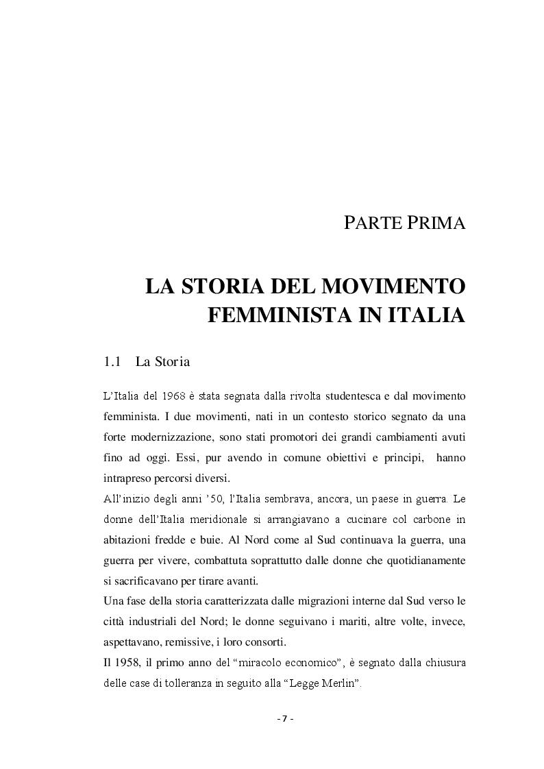 Anteprima della tesi: Giovani donne partenopee fra tradizione ed innovazione, Pagina 5