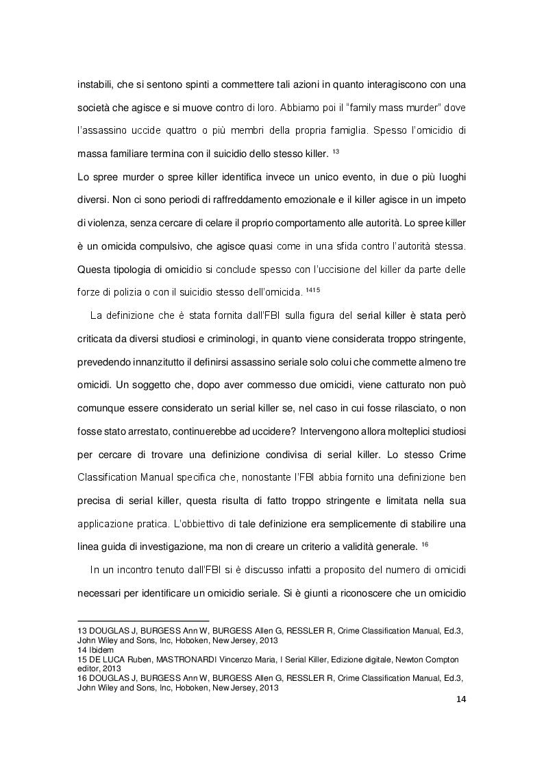 Anteprima della tesi: Analisi dell'omicidio seriale, Pagina 6