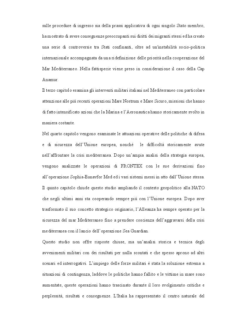 Anteprima della tesi: LA CRISI EUROPEA DEL MEDITERRANEO: Gli Interventi Militari, Pagina 3
