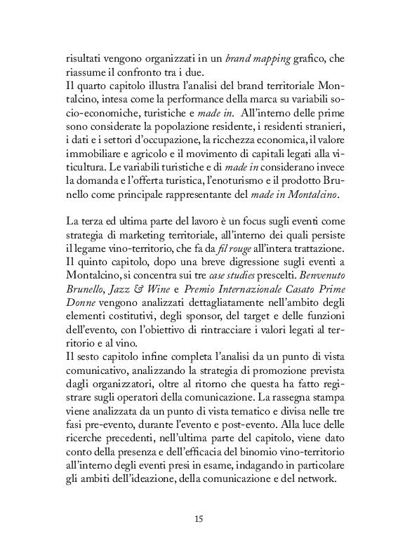 Anteprima della tesi: Strategie di comunicazione e marketing per Montalcino e il suo Brunello, Pagina 6