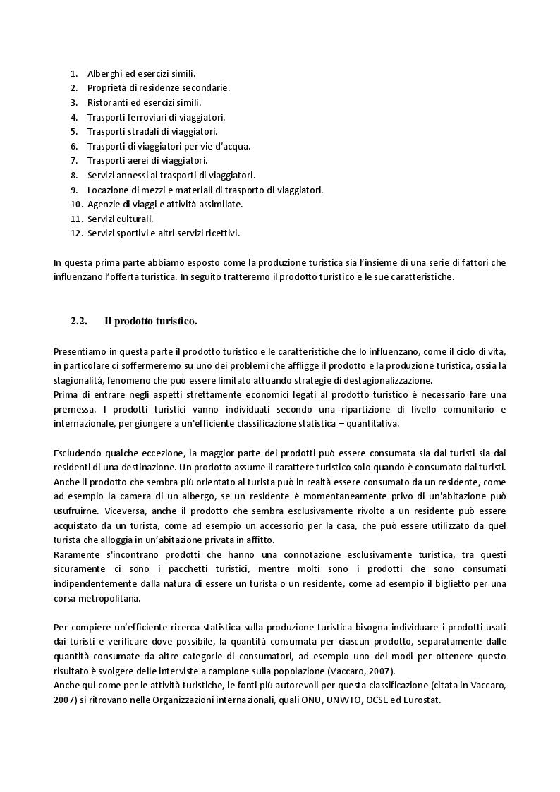 Estratto dalla tesi: L'evoluzione dell'offerta turistica italiana negli ultimi 10 anni, con paragoni all'esperienza francese.