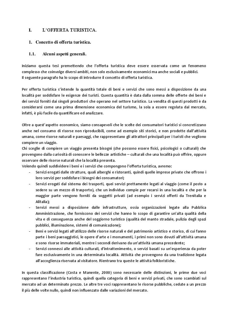 Anteprima della tesi: L'evoluzione dell'offerta turistica italiana negli ultimi 10 anni, con paragoni all'esperienza francese., Pagina 3