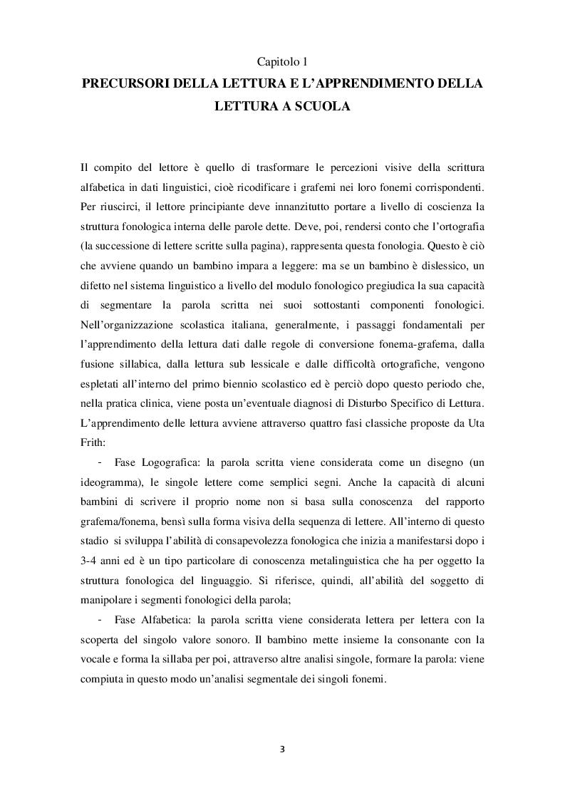 Anteprima della tesi: Dislessia: difficoltà, risorse e strategie per l'apprendimento, Pagina 4