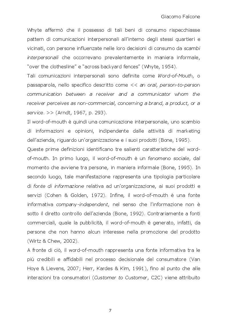 Anteprima della tesi: Word-of-Mouth ed Attrattività Organizzativa: valenze del messaggio, employer brand e autostima del ricevente, Pagina 6