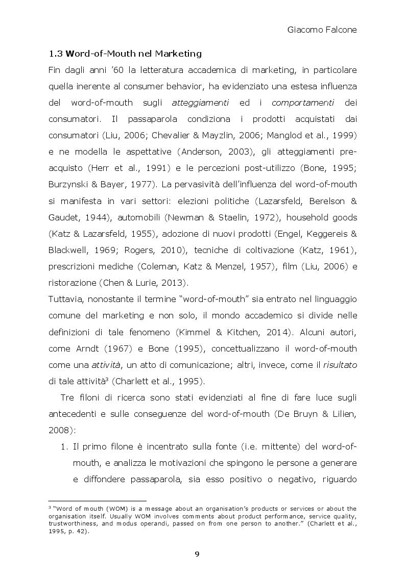 Anteprima della tesi: Word-of-Mouth ed Attrattività Organizzativa: valenze del messaggio, employer brand e autostima del ricevente, Pagina 8