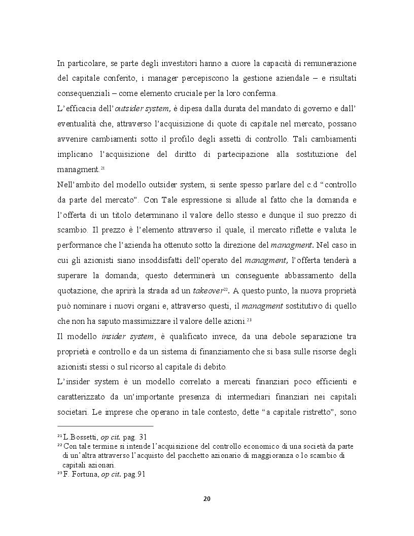 Estratto dalla tesi: La corporate governance ed il ruolo del revisore