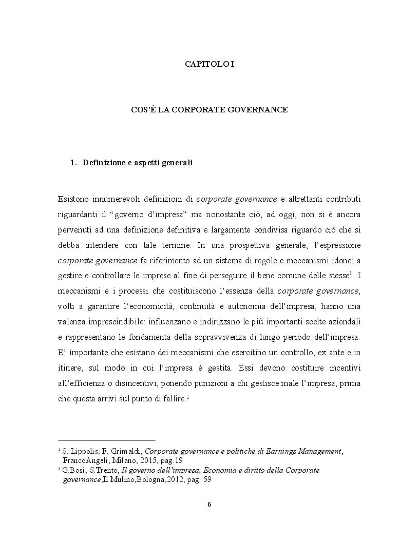 Anteprima della tesi: La corporate governance ed il ruolo del revisore, Pagina 4