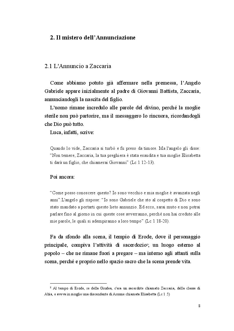 Anteprima della tesi: Annunciazione: lo spazio invisibile, Pagina 7