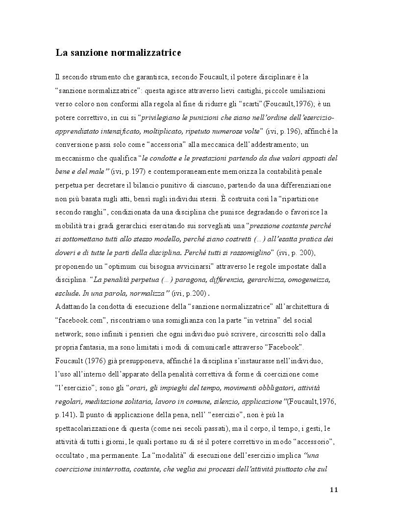 Estratto dalla tesi: Il selfie del macaco. Facebook tra panopticismo e condizionamenti sociali.