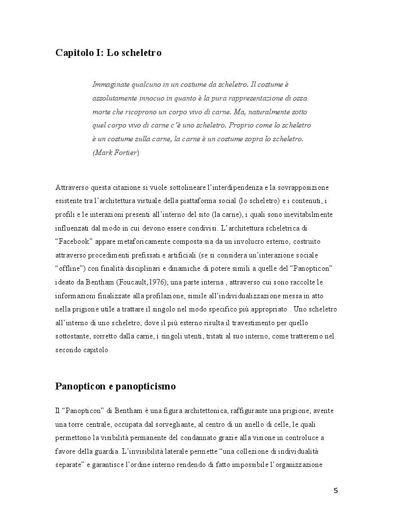 Anteprima della tesi: Il selfie del macaco. Facebook tra panopticismo e condizionamenti sociali., Pagina 4