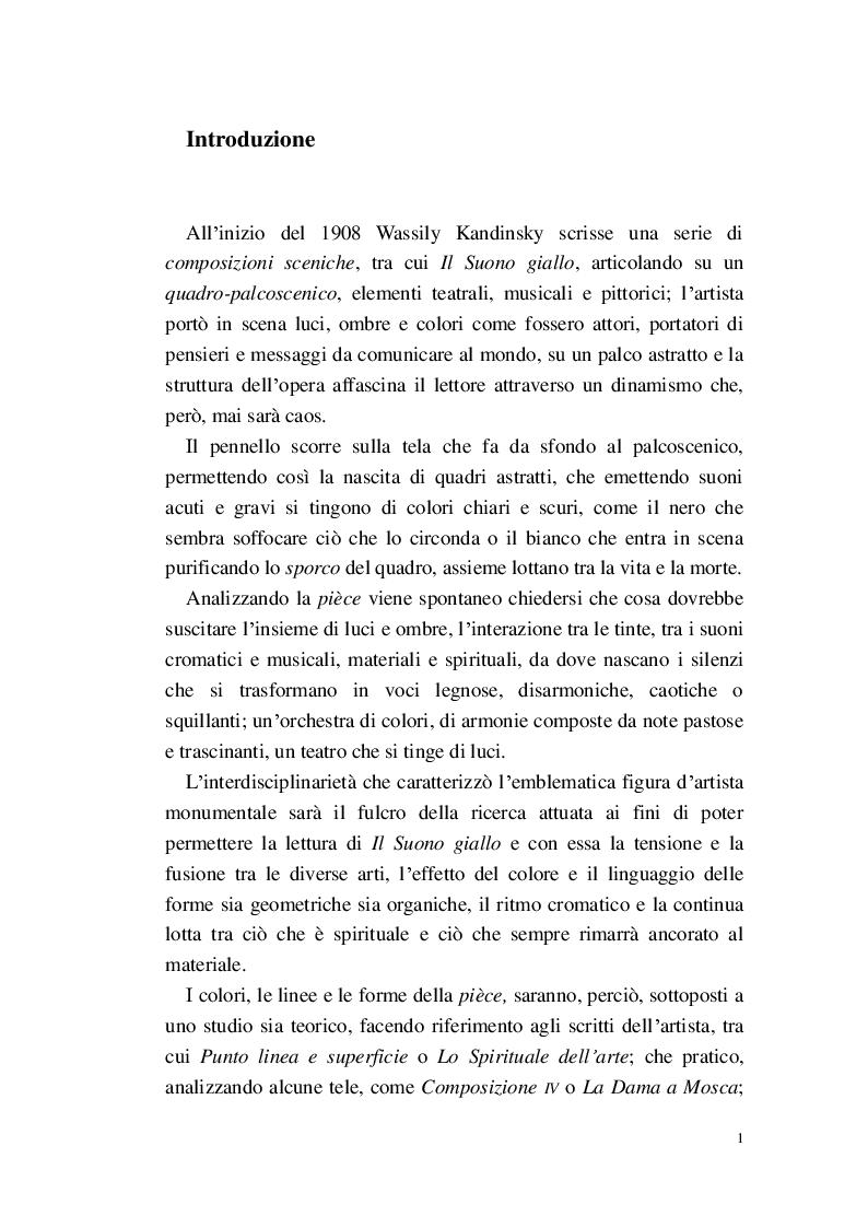 Anteprima della tesi: Lo Spirituale del Suono giallo, Pagina 2