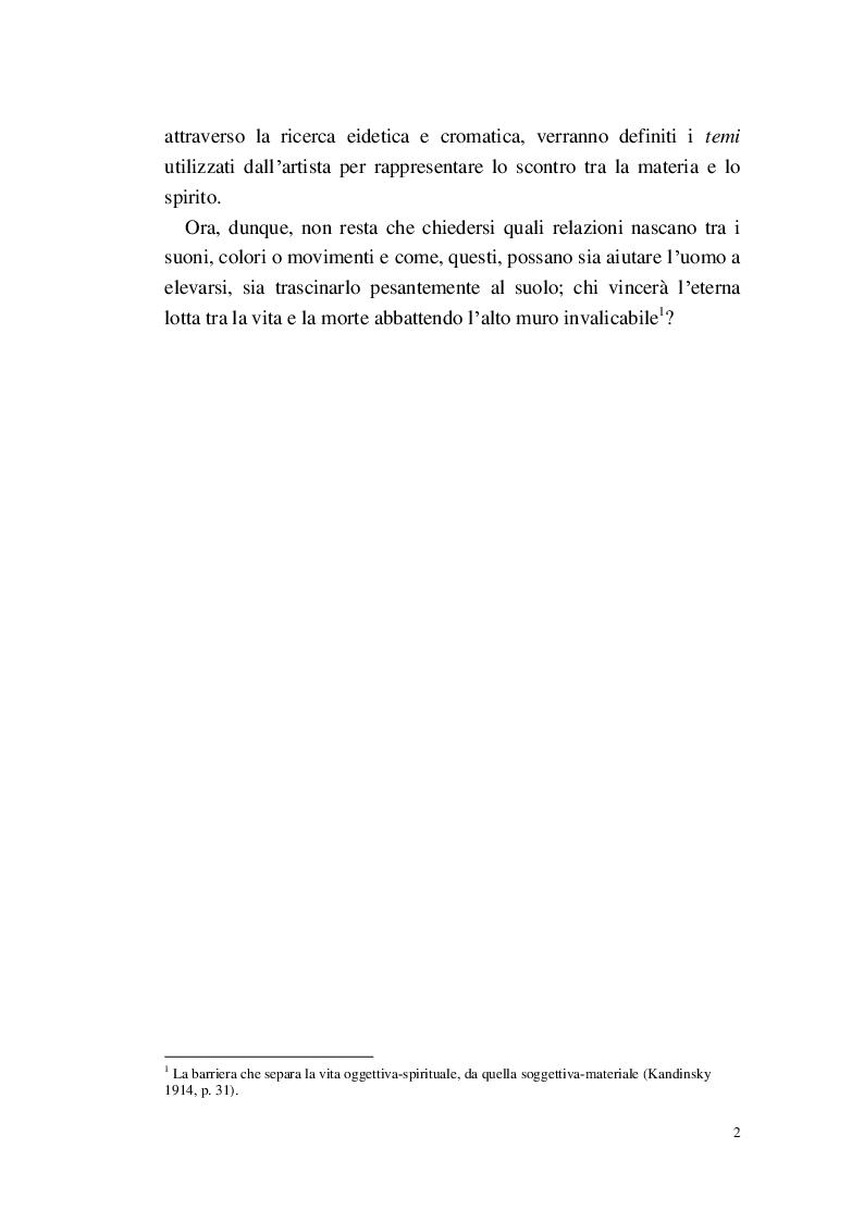 Anteprima della tesi: Lo Spirituale del Suono giallo, Pagina 3
