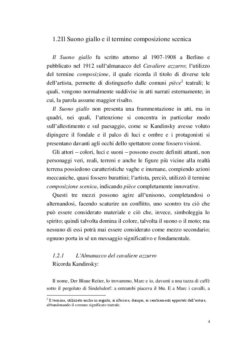 Anteprima della tesi: Lo Spirituale del Suono giallo, Pagina 5