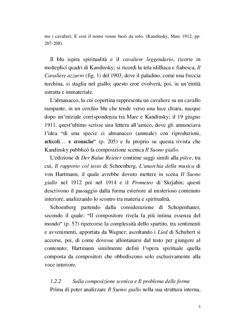 Anteprima della tesi: Lo Spirituale del Suono giallo, Pagina 6