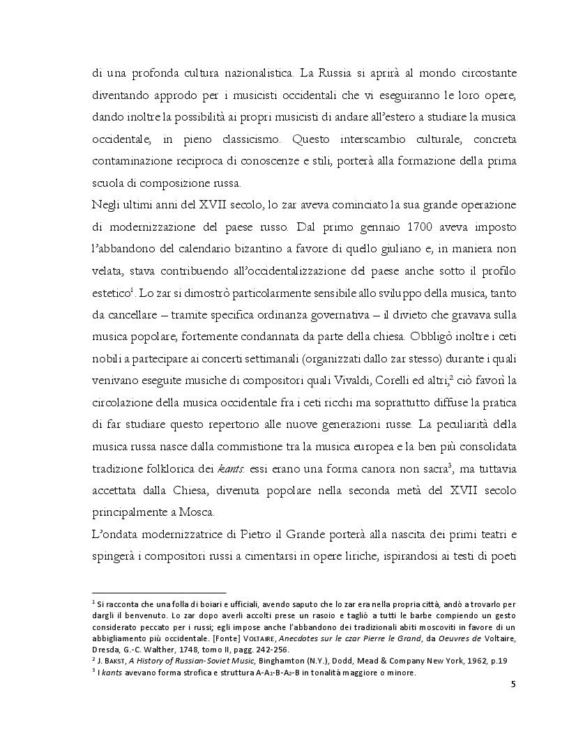 Anteprima della tesi: Dalla Composizione all'Interpretazione: La Terza Sonata per Pianoforte op. 46 di Dmitri Kabalevskij, Pagina 6