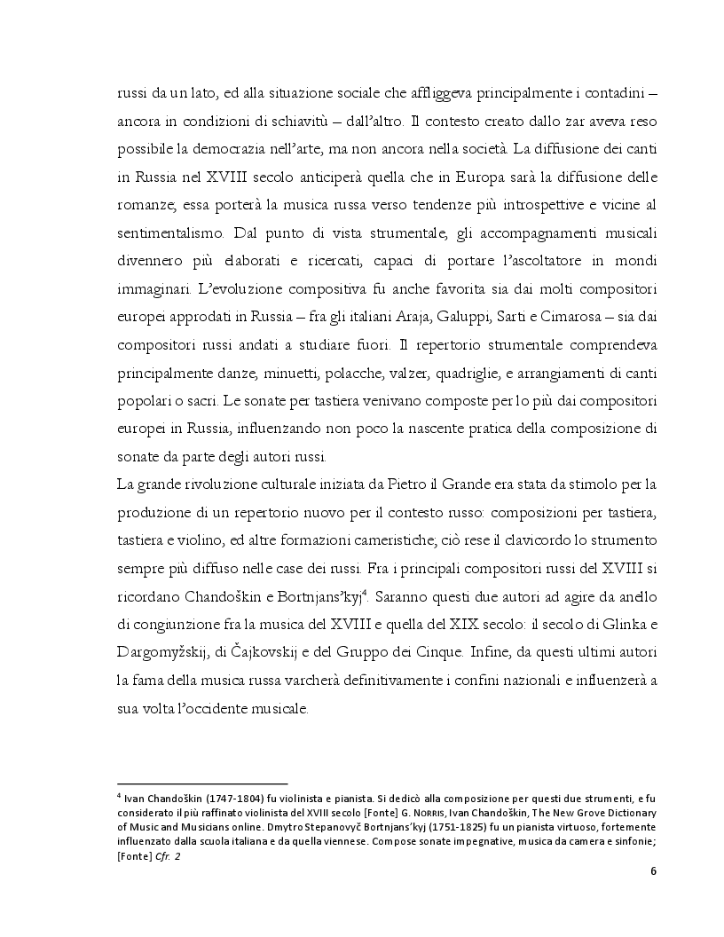 Anteprima della tesi: Dalla Composizione all'Interpretazione: La Terza Sonata per Pianoforte op. 46 di Dmitri Kabalevskij, Pagina 7
